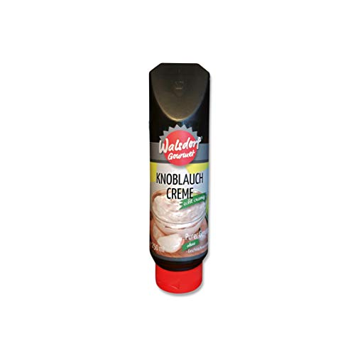 Walsdorf Gourmet Knoblauch Creme - Grillsauce – Barbecue Sauce – Knoblauchsauce - 6er Set – 6 x 250 ml Tube