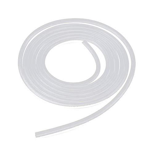 Ndier Tubo de silicona suave para uso alimentario. Tubo de silicona transparente de 2 m. Tubo flexible de silicona para uso médico. 8 mm. Diámetro interior de 10 mm. Tubo inodoro.