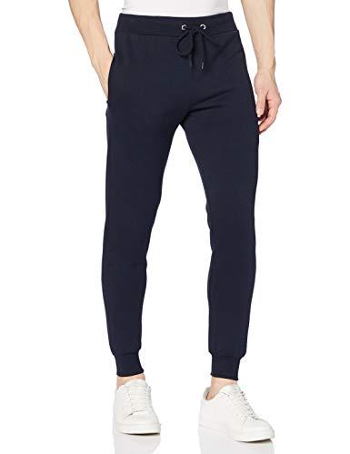 FM London Hyfresh Slim Fit, Pantalones deportivos Hombre, Azul (Navy 12), Large
