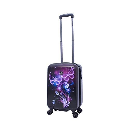 Koffer Trolley Hartschalenkoffer Schmetterling Butterfly Saxoline Gr.S 55 cm