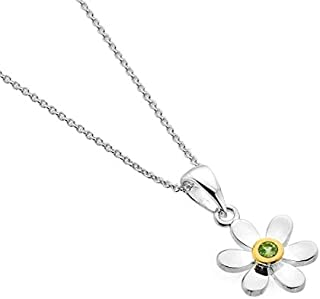 Enamel and Silver Mackintosh Lines Lilac Pendant Necklace 7313