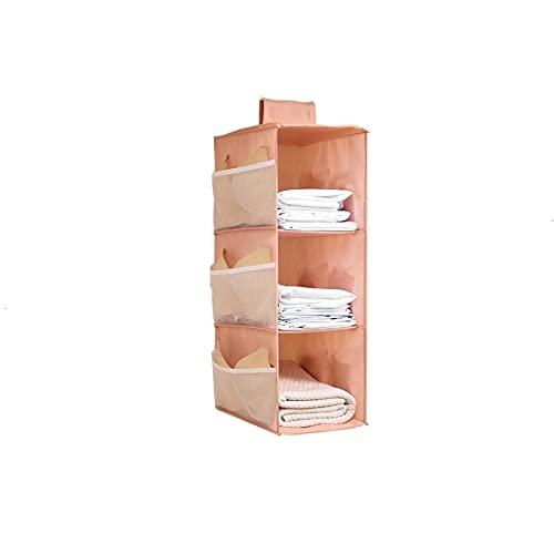 PPuujia Bolsa de almacenamiento multifunción para guardarropa, organizador de ropa, organizador de ropa, bolsa de ropa interior, organizador de habitación, color rosa, 3