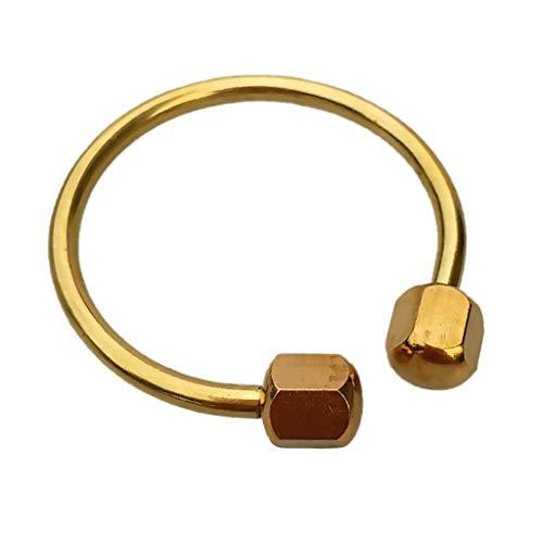 HenShiXin Wider Kleiner Compact Haltbarer festes Messing Tauchen Schnorchel Keychain Keyring Schlüsselanhänger Schlüsselhalter-Zubehör Bietet (Color : Gold)