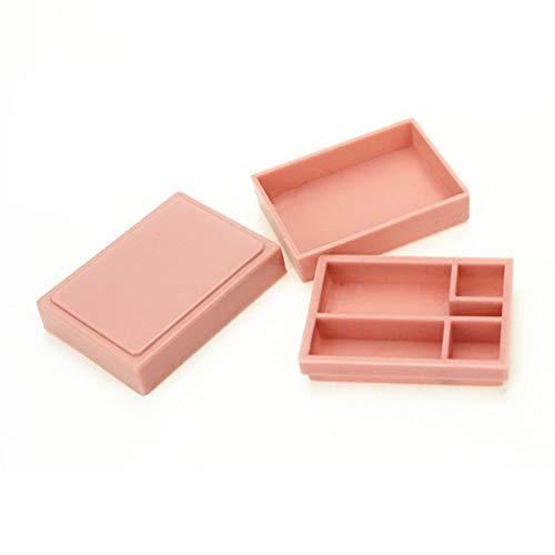 Momangel 1 x Mini-Bento-Lunchbox-Modell, Mini-Haus-Zubehör, Spielzeug, Geschenk, zufällige Farbe, Einheitsgröße
