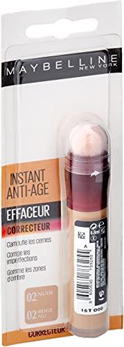 Maybelline New York - Anti-cernes/Correcteur Fluide - Instant Anti-Age L'Effaceur - 02 Beige Nu -...