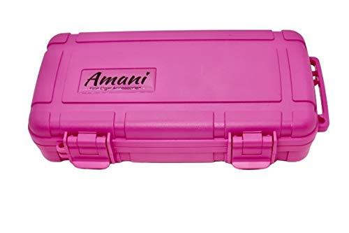 Amani Hot Pink Five Stick Travel Humidor
