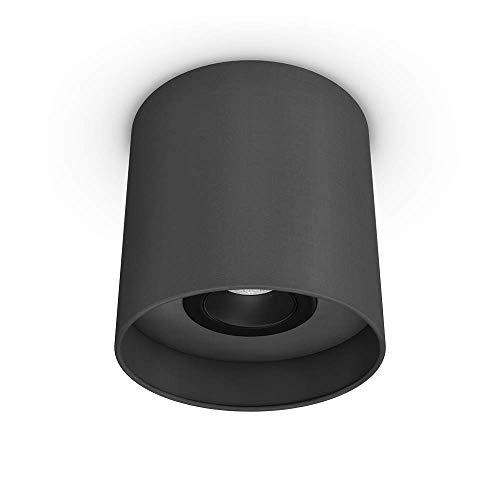Downlight Uni Granilux (antracita) | Lámpara de techo | Lámpara de techo | Pantalla de tela I GU10 | 1 foco, orientable 30 ° | Diámetro 18 cm I sin bombilla