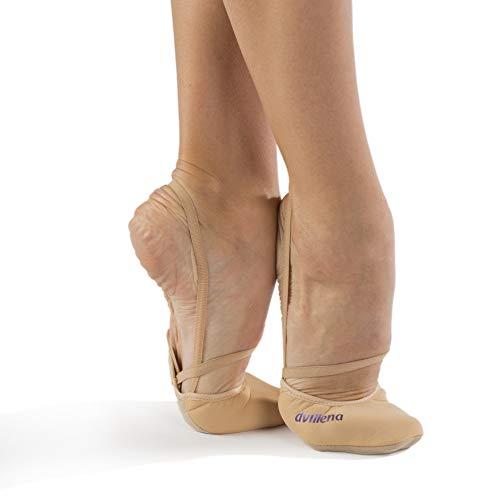 dvillena - Modelo Elite Caricia | Famosa Marca de Punteras de Gimnasia Rítmica Niña y Mujer | Las Puntas Que Usan Grandes Gimnastas Mundiales | Bailarinas Aérobica Deporte Danza Zapatillas Ballet