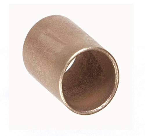 "Oilite AAM2532-32 25 x 32 x 32 M-Series Sintered Metric Sleeve, 1.26"" Height, 1.26"" Width, 1.26"" Length, 25"" x 3"" ID, Bronze"