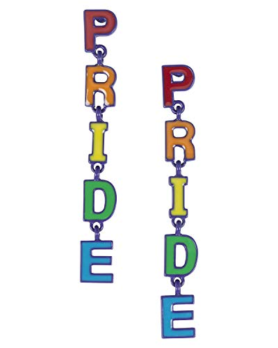 Madison Tyler Pride Collection, PRIDE Rainbow Dangle Post Earrings for Women Gay Lesbian LGBT Jewelry (Rainbow and Purple)