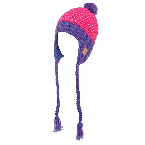 Winter warm women's ear hat hat snowboard knitted skating skull hat hat beanie hat turtleneck hat Touca Gorro-Purple