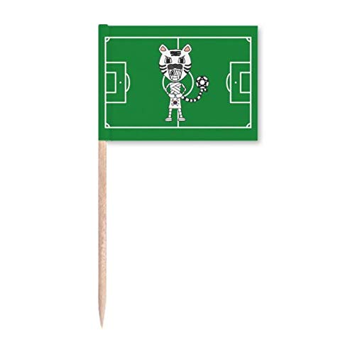 Korean White Tiger Mummy Football Zahnstocher Flags Marker Topper Party Dekoration