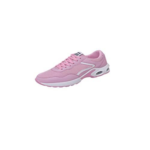 LILIHOT Frauen Sportschuhe Paar Modelle Laufschuhe fliegen gewebt Mesh Freizeitschuhe Mode Laufsocken Schuhe Damen Studenten elastische dünne Stiefeletten rutschfeste Schuhe Mesh-Schuhe (38, B Rosa)
