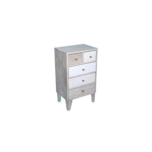 Art Deco Home - Kommode mit 5 Schubladen, Holz, 85 cm - 16469SG