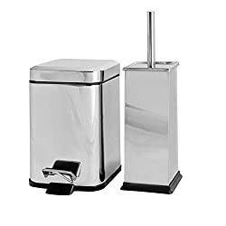 Harbour Housewares Square Steel Bathroom Pedal Bin