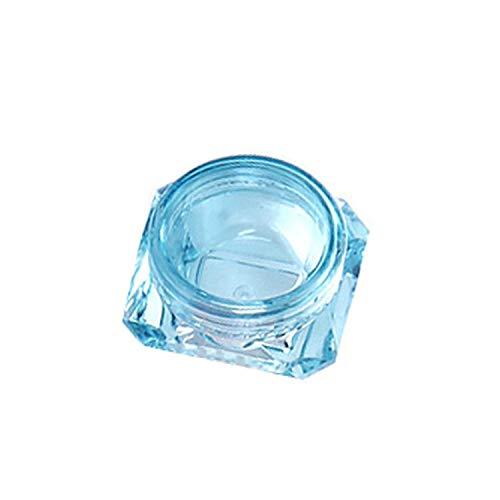 leaf-only Sac De Voyage De Stockage Cosmétique, 50Pcs / Lot Cosmetic Container Makeup Cream Nail Art Lip Balm Containers for Storage Rechargeable Bottle Travel Portable Plastic Jar-green-5g