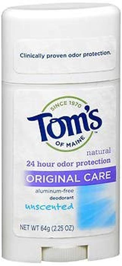 Tom's of Maine Original Care Natural Deodorant Stick Unscented - 2.25 oz, Pack of 4