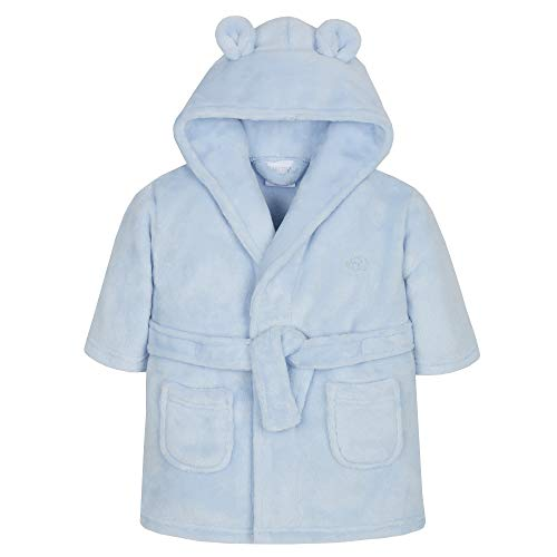 Kinder / Kleinkind Weich Fleece Bademantel ~ 6 - 24 Monate - Blau, 86-92