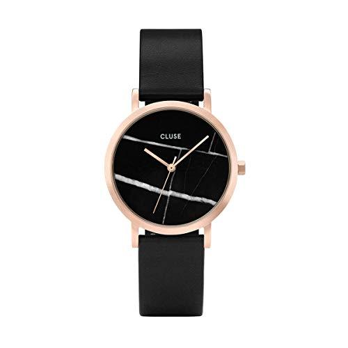 Cluse Unisex Erwachsene Digital Quarz Uhr mit Leder Armband CL40104