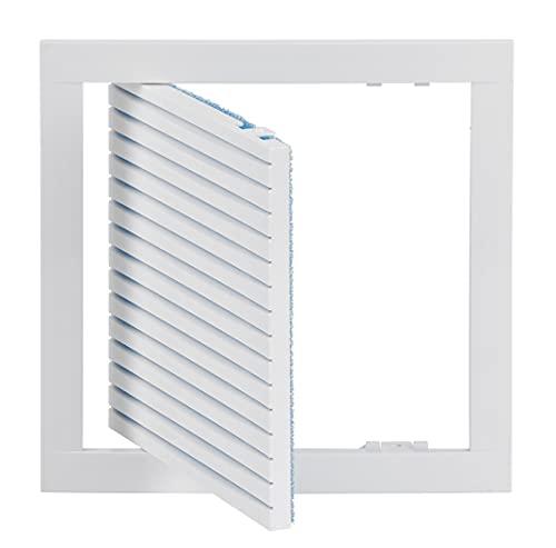 Haeusler-Shop - Rejilla de ventilación empotrable (20 x 20 cm, con filtro, 200 x 200 mm), color blanco