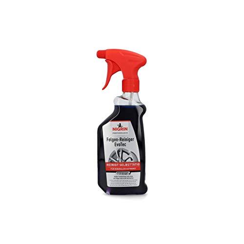 NIGRIN 72931 EvoTec Felgenreiniger, 500 ml, selbstaktiver Reiniger für alle Felgen, säurefrei, mit Wirk-Indikator