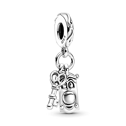 LaMenars Alice in Wonderland Dangle Charm for Pandora Bracelet 925 Sterling Silver Love Bead Charms with Cubic Birthday Anniversary Jewelry Gifts for Women Girls Mom Wife
