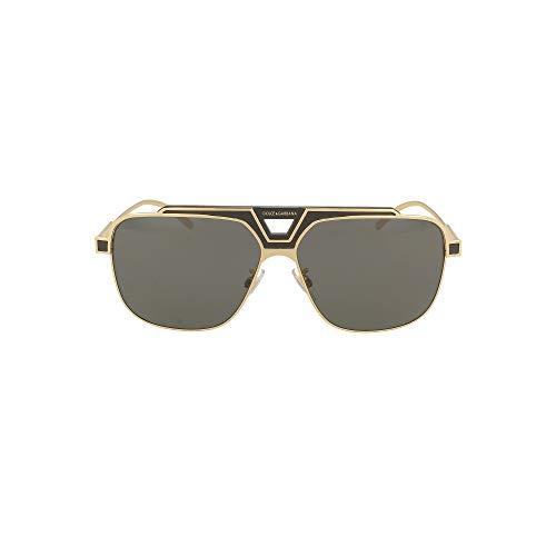 Dolce & Gabbana Gafas de Sol MIAMI DG 2256 Gold/Dark Grey 62/13/150 hombre