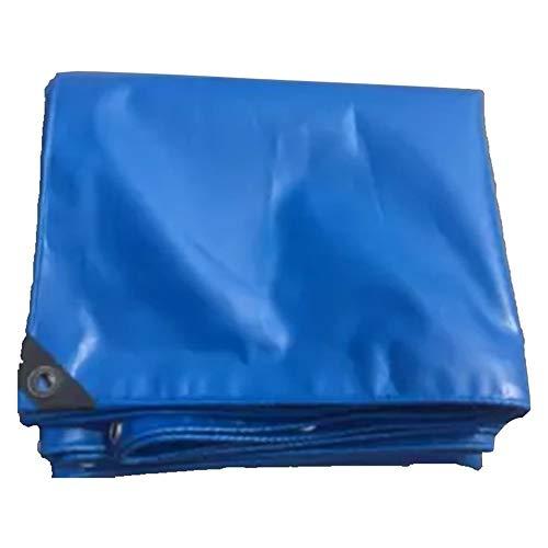 WTTO Heavy Duty PE Bâche de Protection, Double Épaisseur Coins Renforcés Couverture Étanche Imperméable Protège Contre la Poussière Résistante Aux Déchirures Bâche Extérieur,Blue_9xft/3x5m