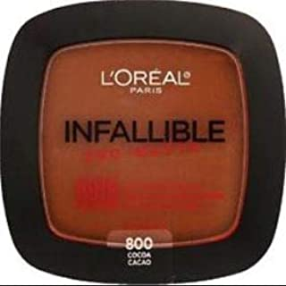 L'OREAL Infallible Pro-Matte Powder Cocoa 30g -Our 1st 16H mattifying Powder Foundation Inspired by Japanese Two-Way Cake which Provides high Coverage