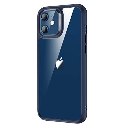 ESR iPhone 12 ケース iPhone 12 Pro ケース 6.1インチ 2020型 透明 9H背面 tpuバンパー 薄型 黄変防止 ブルー