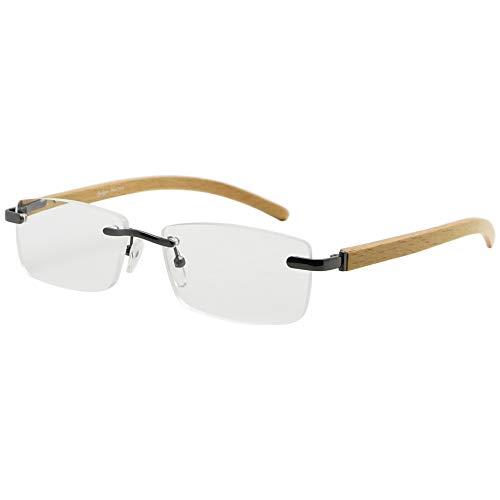 Eyekepper Federscharniere Wood Arms Randlos Lesebrille Gunmetal +2.0