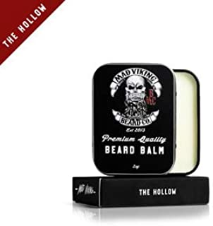 Mad Viking Beard Co The Hollow 2 Ounce Beard Balm, Medium to Heavy Hold, All Natural and Organic Ingredients, Paraben and Cruelty-Free, Maintain and Manage Beard Hair, Best Gift for Him and Husband