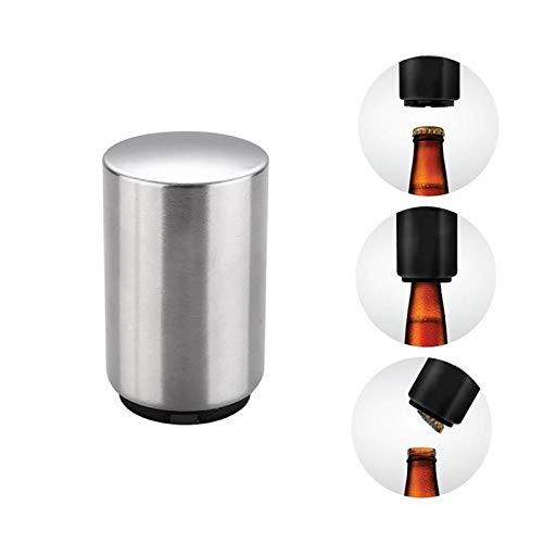 1Pc creatieve automatische bierflesopener roestvrij staal wijn bier frisdrank glas dop fles opener draagbare bar accessoires