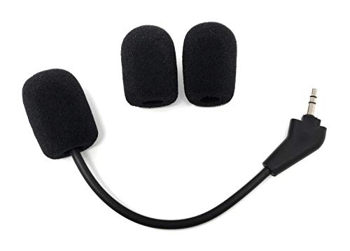 TNE - Corsair Replacement Game Mic 3.5mm Microphone Boom for Corsair HS50 Pro, HS60, HS70 SE Gaming Headsets | Extra Foam Cover Pop Filters