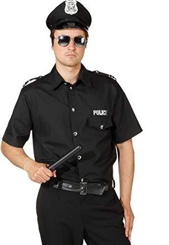 Orlob Polizei Hemd in schwarz zum Herren Kostüm Polizist Karneval Gr.50/52
