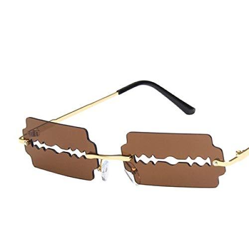 Gafas De Sol De Ojo De Gato para Mujer 2020, Gafas De Sol Sin Montura De Moda, Gafas De Sol Punk Rectangulares Huecas Únicas para Hombres, Gafas Uv400 Nacidas