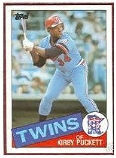 1985 Kirby Puckett Topps Baseball MLB Rookie Cards - Near Mint to Mint Condition (Minnesota Twins)
