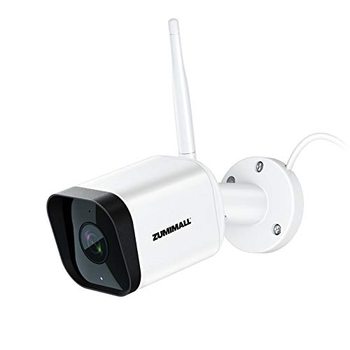 Security Camera Outdoor, Zumimall 1080P WiFi Camera with Night Vision, Home Security Camera System with Motion/Noise Alert, 2-Way Audio Wired Camera, Cloud Storage, IP65 Weatherproof, Works with Alexa