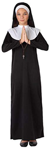 Girls Traditional Nun Holy Sister Religious Catholic Book Day School Fancy Dress Costume Outfit 3-12 Years (3-4 Years) Black
