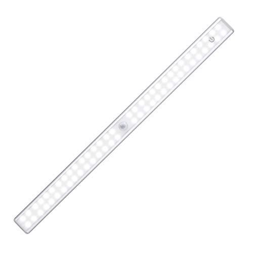 YUNLIGHTS LED Sensor Licht 64 LED Schrankbeleuchtung LED Schranklicht mit bewegungsmelder, 3 Modi Intelligente LED unterbauleuchte USB Wiederaufladbar Schrankleuchte für Küche und Schrank