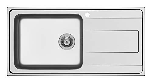 Schock Wave D100LSX - Fregadero de acero inoxidable (100 x 50 x 20 cm)