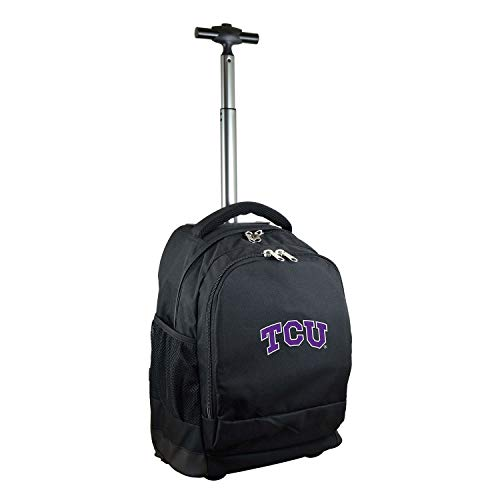 NCAA TCU Horned Frogs Expedition Wheeled Backpack, 19-inches, Black