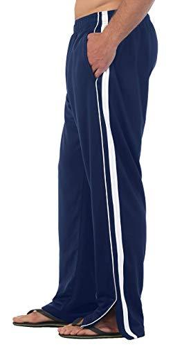 Gioberti Men's Athletic Track Pants, Navy, Medium