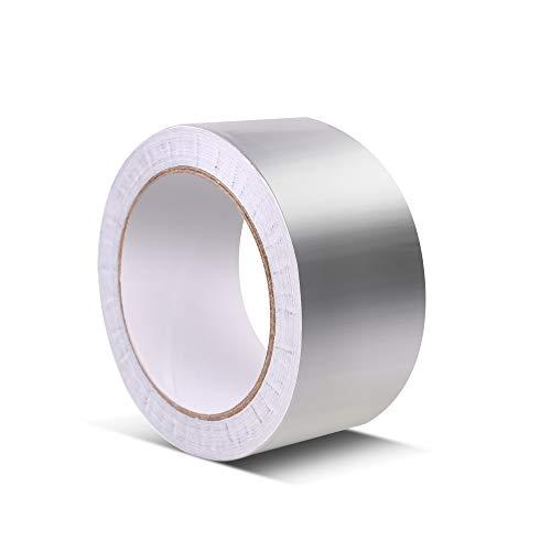 アルミテープ (50mm幅x20m長 0.08mm厚さ 1卷)アルミ箔テープ 熱伝導性 耐熱性 防水