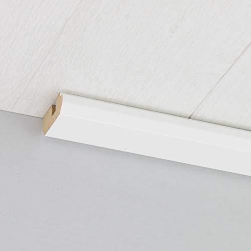 Paneel-Abschlussleiste Abdeckleiste mit Schattenfuge aus MDF in Uni Weiß Hochglanz 2600 x 35 x 17 mm