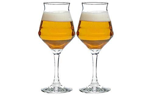 Kaffeetasse Mugs Geschenk Italien Borgonovo Craft Beer Glas Bar Home Gebraucht Brewdog Punk Ipa Bier Tulpe Kristall Becher Schwarz Bock Bier Stout Becher Weingläser, 2 Stück, 400Ml
