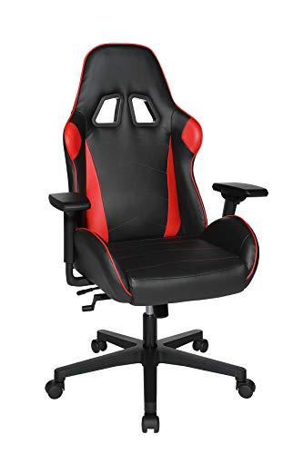 Topstar Speed Chair 2 Bürodrehstuhl, Gamingstuhl, Chefsessel, Kunstleder, rot/schwarz
