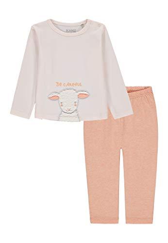 Kanz Baby-Mädchen 2 TLG. Set (T-Shirt 1/1 Arm + Leggings) Bekleidungsset, Rosa (Cream Pink|Rose 2256), (Herstellergröße: 68)