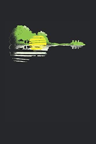 Gitarren Landschaft | Notizheft/Schreibheft: Gitarren Notizbuch Mit 120 Linierten Seiten (Linien) Inkl. Seitenangabe. Als Geschenk Eine Tolle Idee Für Gitarristen, Musiker Oder Band Mitglieder