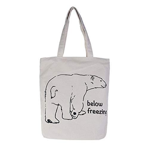 Dosige herbruikbare handtas, boodschappentas voor dames, schooltas, studententas, 1 voor de verkoop (beige)